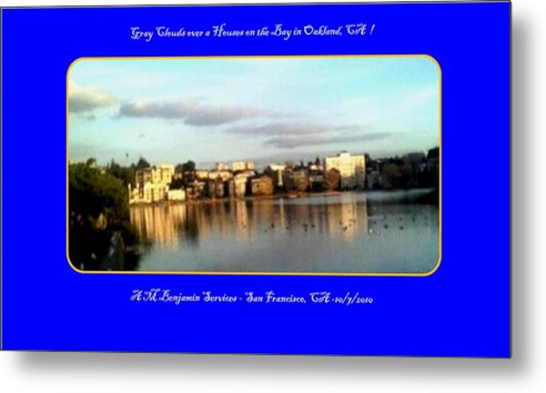 Houses On The Bay Metal Print by Anthony Benjamin