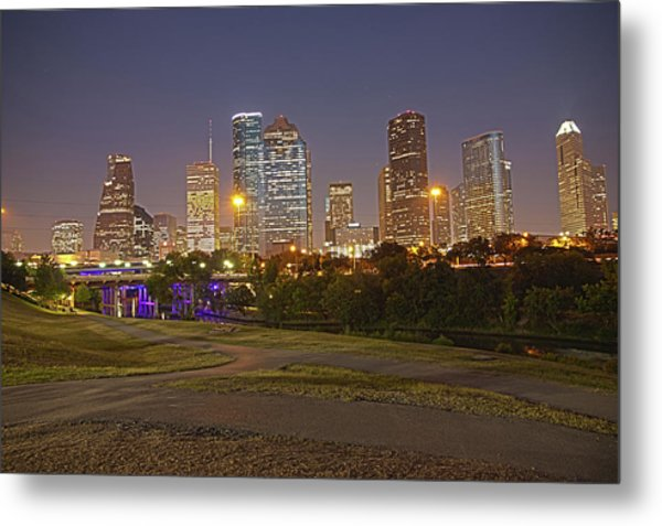 Houston Cityscape1 Metal Print