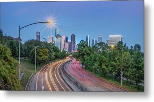 Houston Evening Cityscape Metal Print
