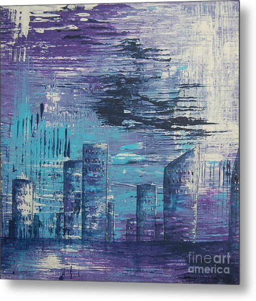 Houston Skyline 2 Metal Print