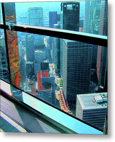 Houston South From Chase Tower Metal Print