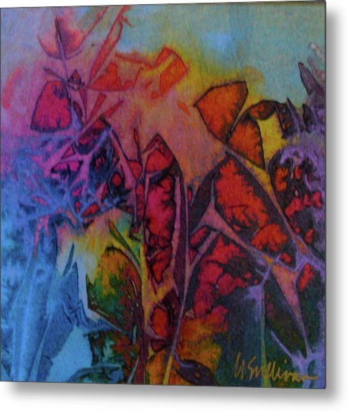 How Her Garden Grows Metal Print