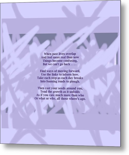 How Now Poem Metal Print