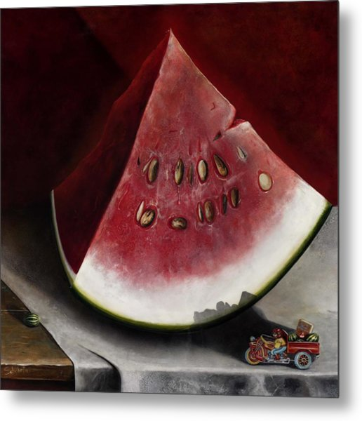 How To Grow Watermelon Metal Print by Stephen Schubert