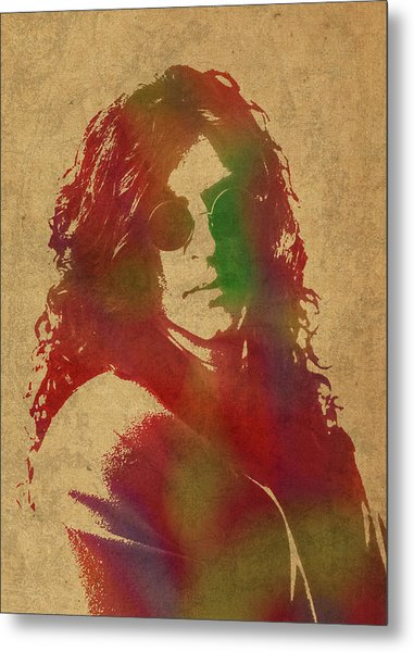 Howard Stern Watercolor Portrait Metal Print