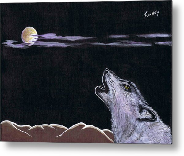 Howling At The Moon Metal Print by Jay Kinney