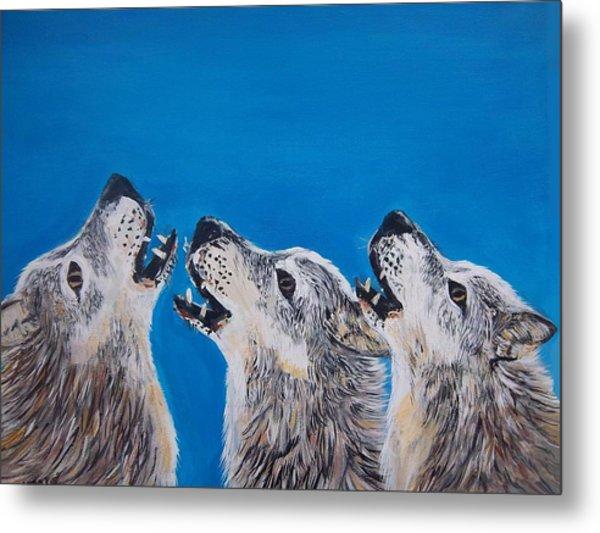 Howling Trio Metal Print