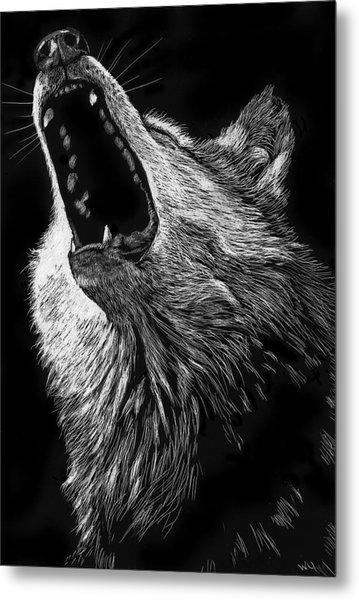 Howling Wolf Metal Print