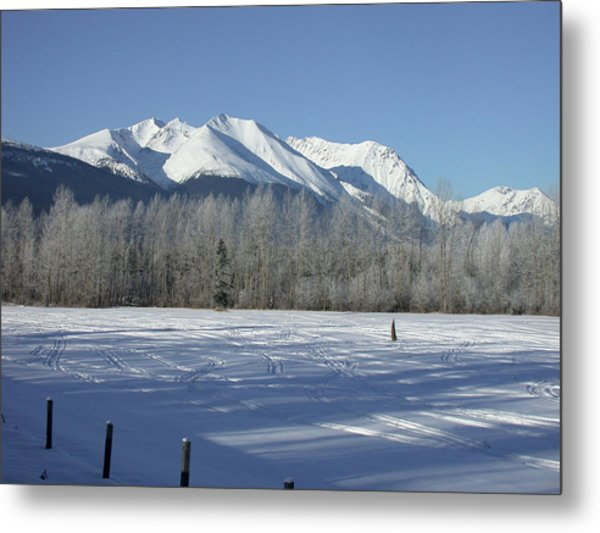 Hudson Bay Mtn Winter View Metal Print