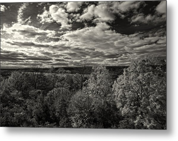 Hudson River And New Jersey Palisades From Wave Hill Metal Print
