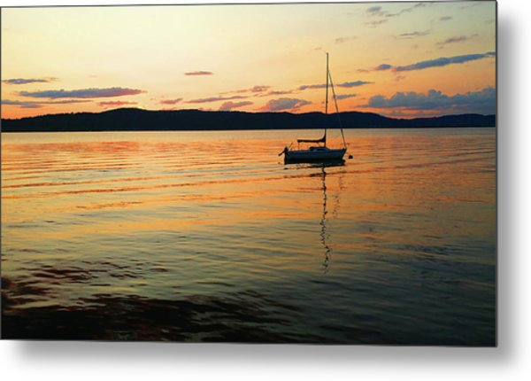 Hudson River From Irvington In Westchester County Metal Print