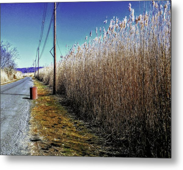 Hudson River Winter Walk Metal Print