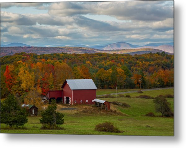 Hudson Valley Ny Fall Colors Metal Print