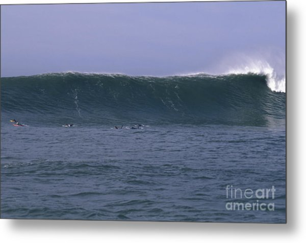 Huge Mavericks Wall Metal Print by Stan and Anne Foster