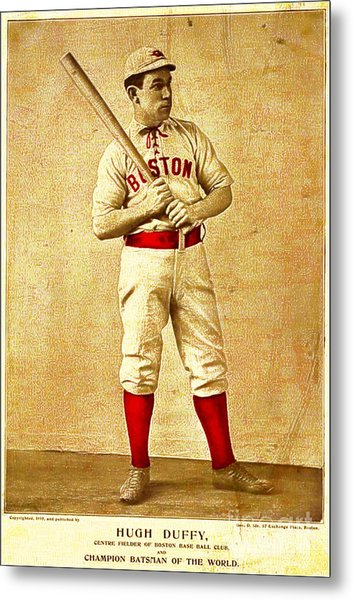 Hugh Duffy Boston Red Sox 1895 Metal Print