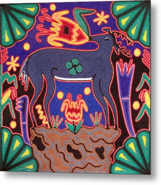 Huichol Deer Metal Print by Andrew Osta