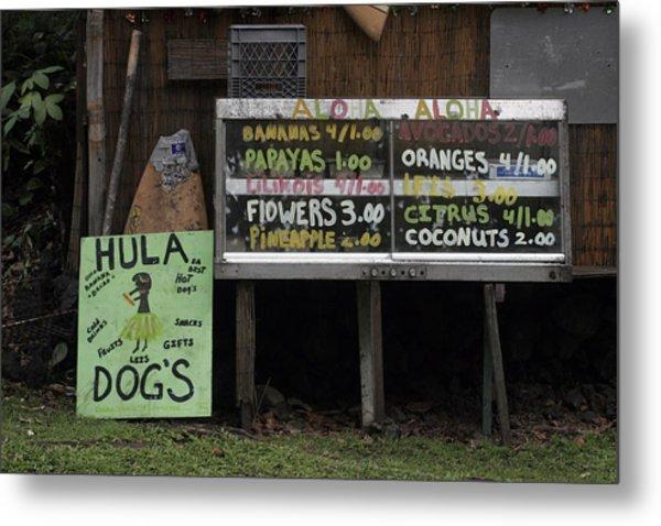 Hula Dogs Metal Print
