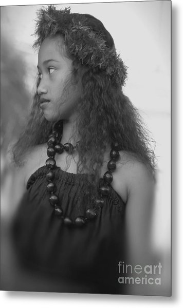 Hula Girl Metal Print