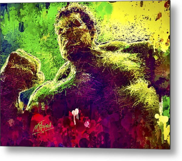 Hulk Smash Metal Print