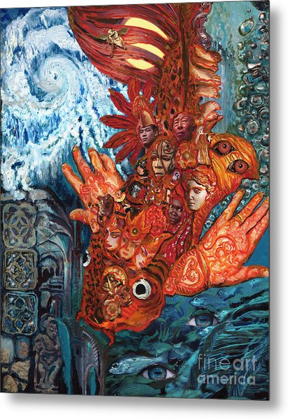 Humanity Fish Metal Print