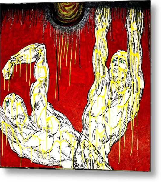 Humility Holds On Flesh Releases Metal Print by Jay Lonewolf