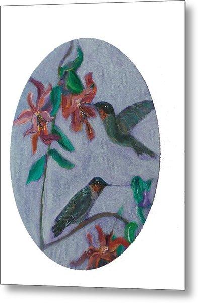 Humming Birds Metal Print by Mikki Alhart