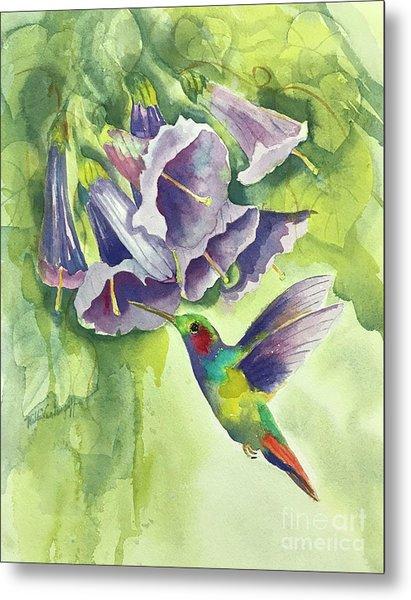 Hummingbird And Trumpets Metal Print