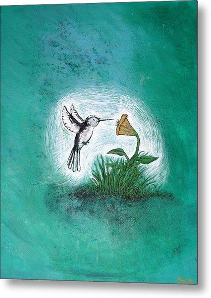 Metal Print featuring the painting Hummingbird by Antonio Romero