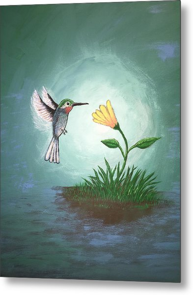 Metal Print featuring the painting Hummingbird II by Antonio Romero