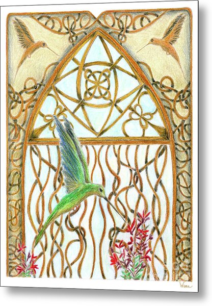 Hummingbird Sanctuary Metal Print