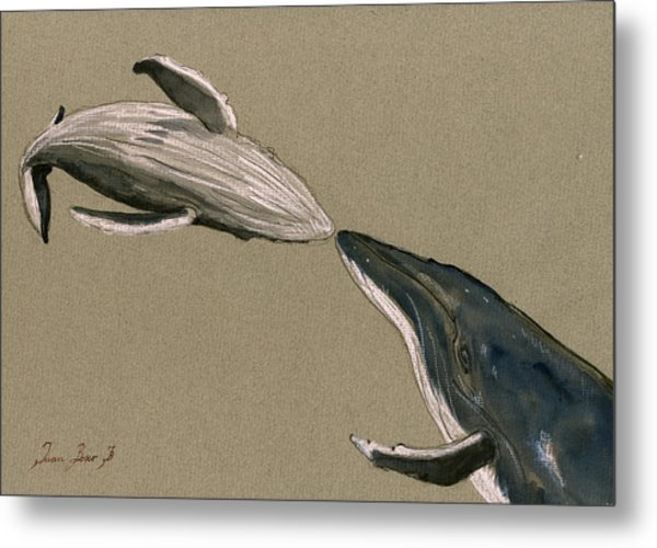 Humpback Whale Painting Metal Print