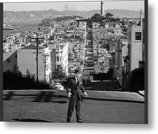 Humphrey Bogart Film Noir Dark Passage Telegraph Hill And Coit Tower San Francisco 1947 Metal Print