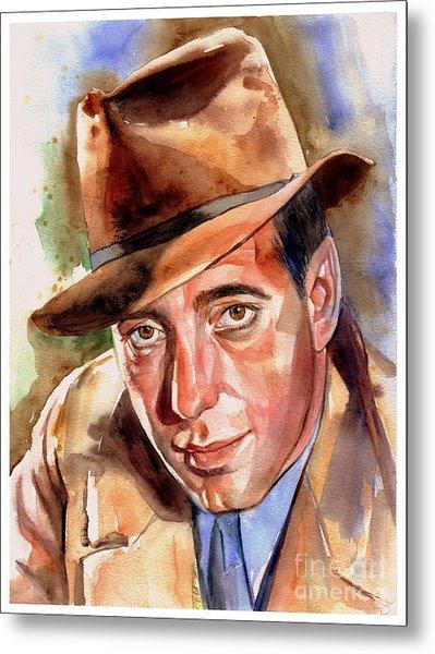 Humphrey Bogart Portrait Metal Print