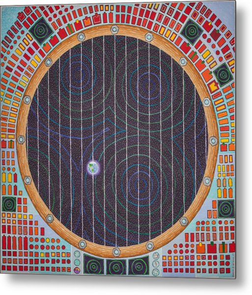 Hundertwasser Shuttle Window Metal Print