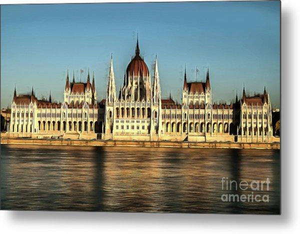 Hungarian National Parliament Metal Print