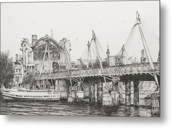 Hungerford Bridge Metal Print