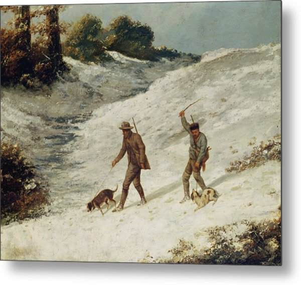 Hunters In The Snow Or The Poachers Metal Print