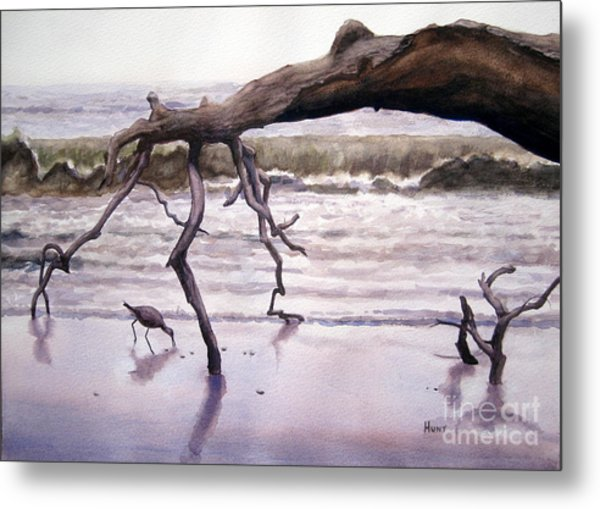 Hunting Island Sculpture Metal Print