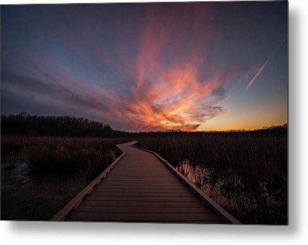 Huntley Meadows Sunset Metal Print by Michael Donahue