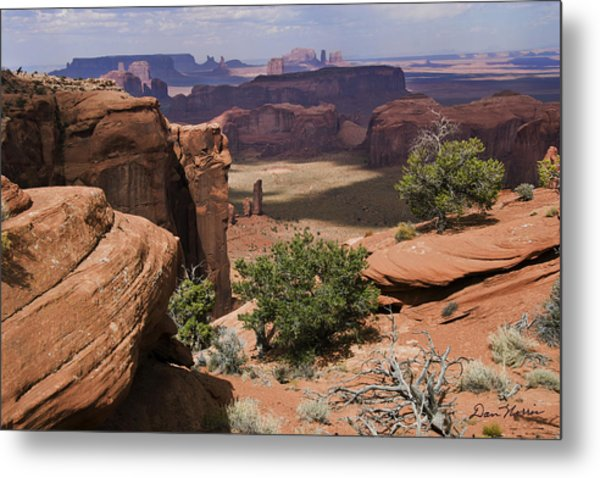 Hunt's Mesa And Monument Valley Metal Print