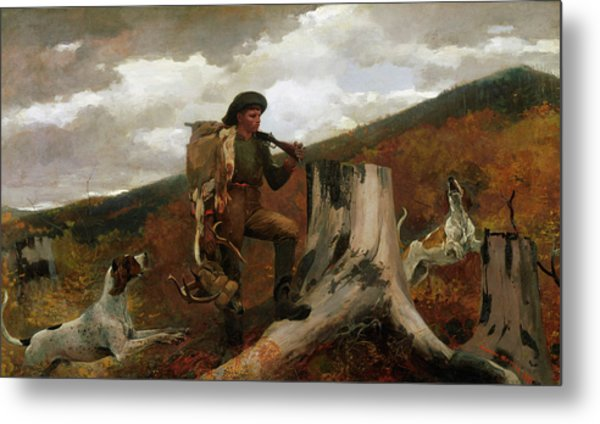 A Huntsman And Dogs Metal Print