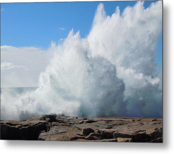 Hurricane Igor At Schoodic Point Maine Metal Print