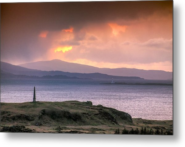 Hutcheson's Monument On The Isle Of Kerrera At Sunset Metal Print