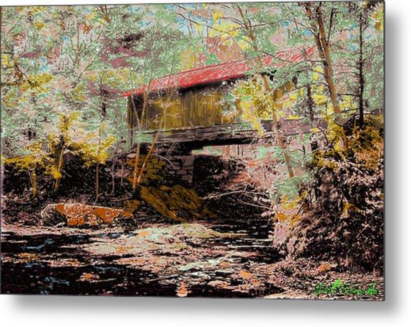 Hutchins' Bridge Metal Print