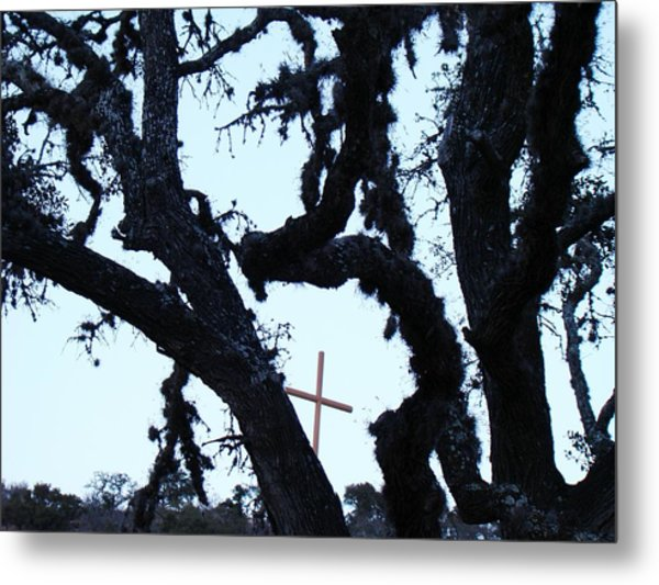 Hwy 87 Cross Two Metal Print by Ana Villaronga