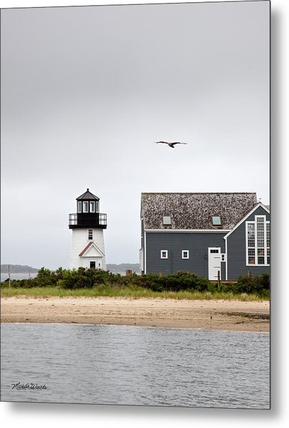 Hyannis Harbor Lighthouse Cape Cod Massachusetts Metal Print
