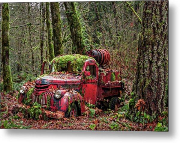 Hybrid Fire Truck Metal Print