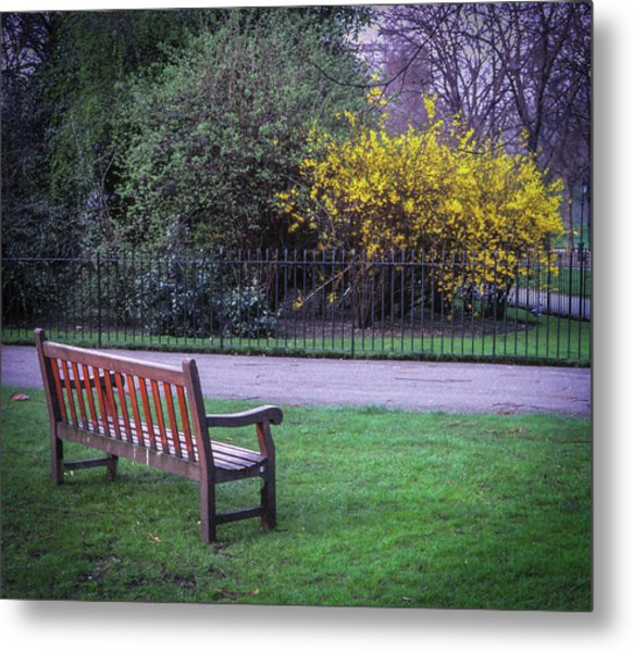 Hyde Park Bench - London Metal Print