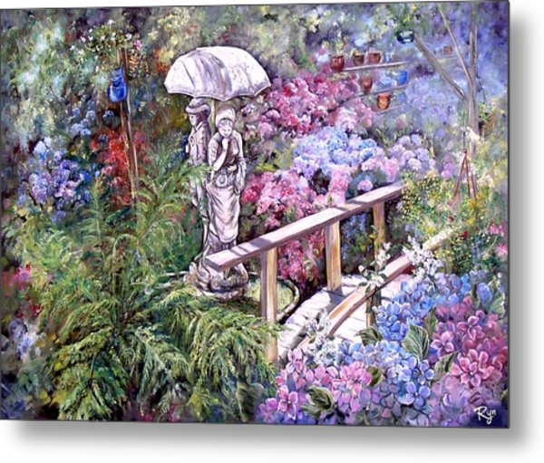 Hydrangea In The Formosa Gardens Metal Print