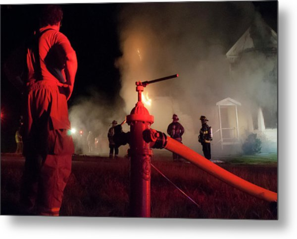 Hydrant Metal Print by Erin Thomas